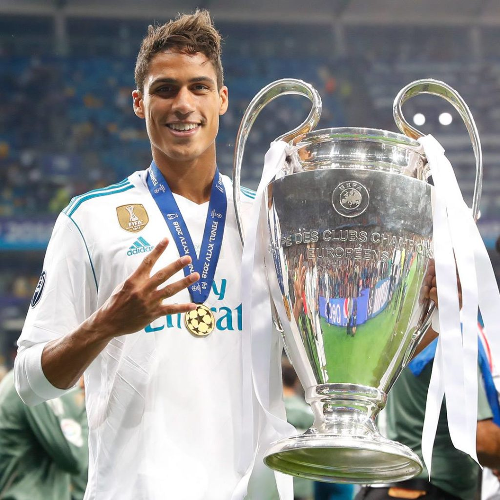 Raphael Varane a remporté 3 Ligues des Champions d'affilées avec le Real Madrid